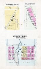 Maine Prairie, Collegeville, Wardeville, Stearns County 1896 published by C.M. Foote & Co